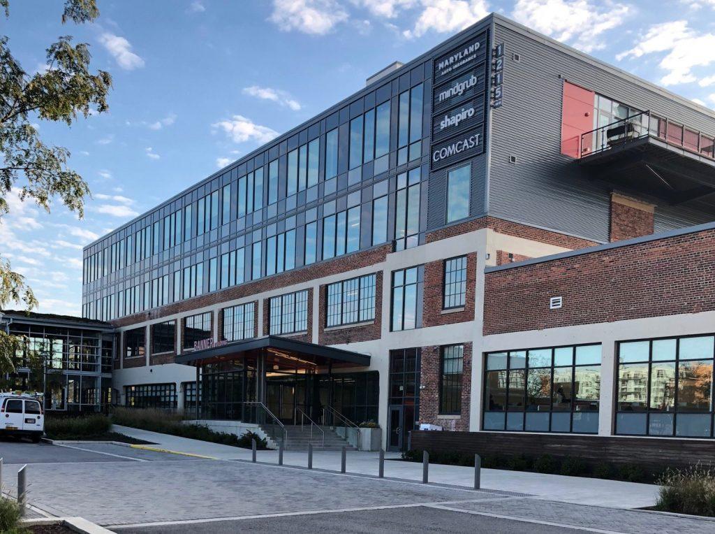 The exterior of Mindgrub's headquarters in Baltimore